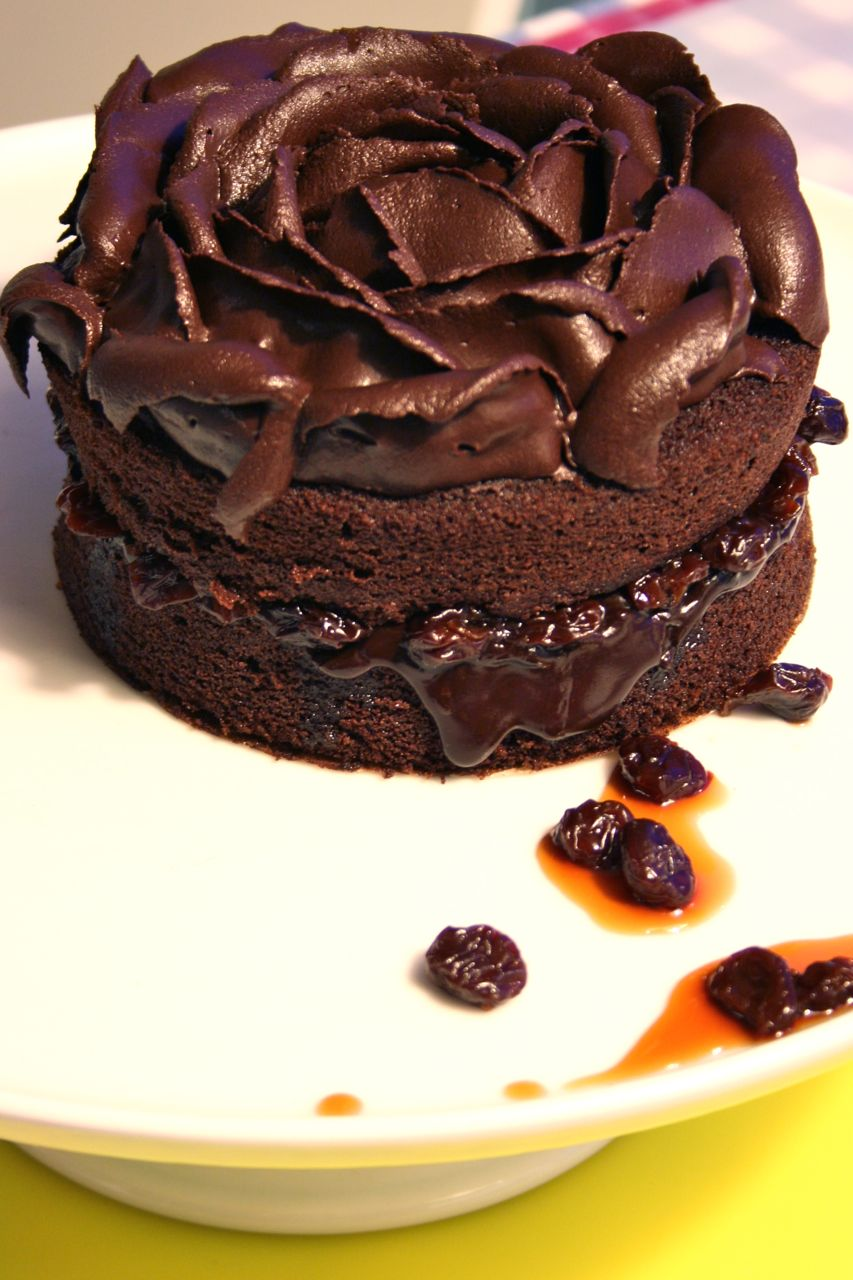 Devil's Food Cake with Midnight Ganache (page 99)