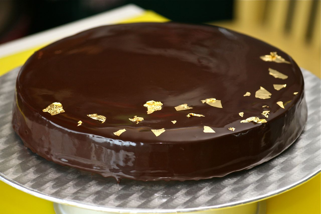 Dark-Chocolate Cake With Ganache Frosting Recipes — Dishmaps